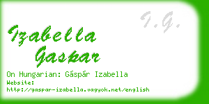 izabella gaspar business card
